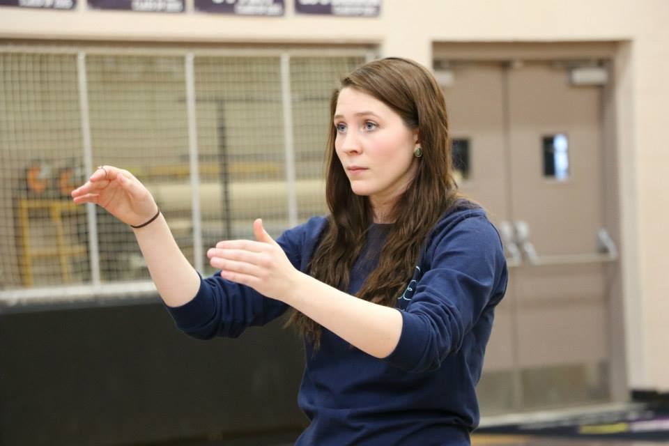 Maggie Fahey directs the Ohio Women's Ensemble during a rehearsal. (photo provided)