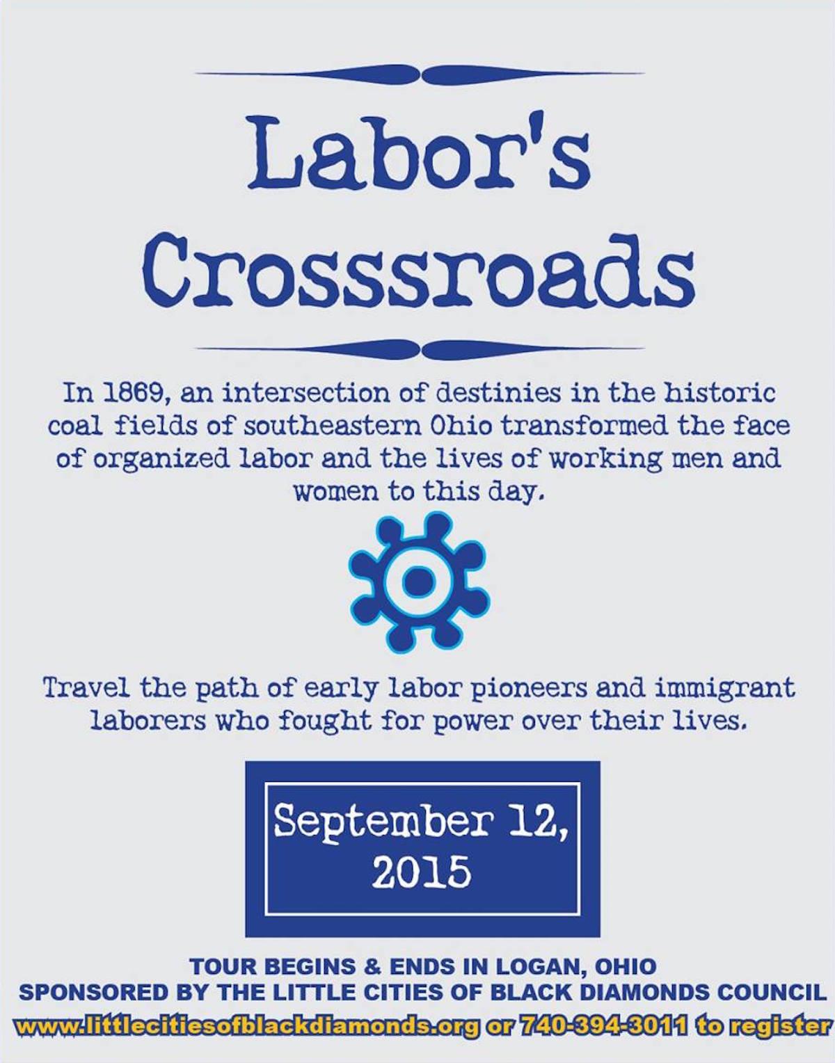 Labor's Crossroads tour poster