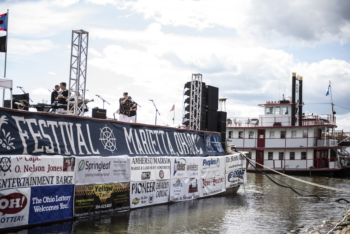 Music is a must for the Sternwheel festival. Bands perform along side the Sternwheel boats to capture the audience who visit from all over Ohio, W.Va, and Kentucky.