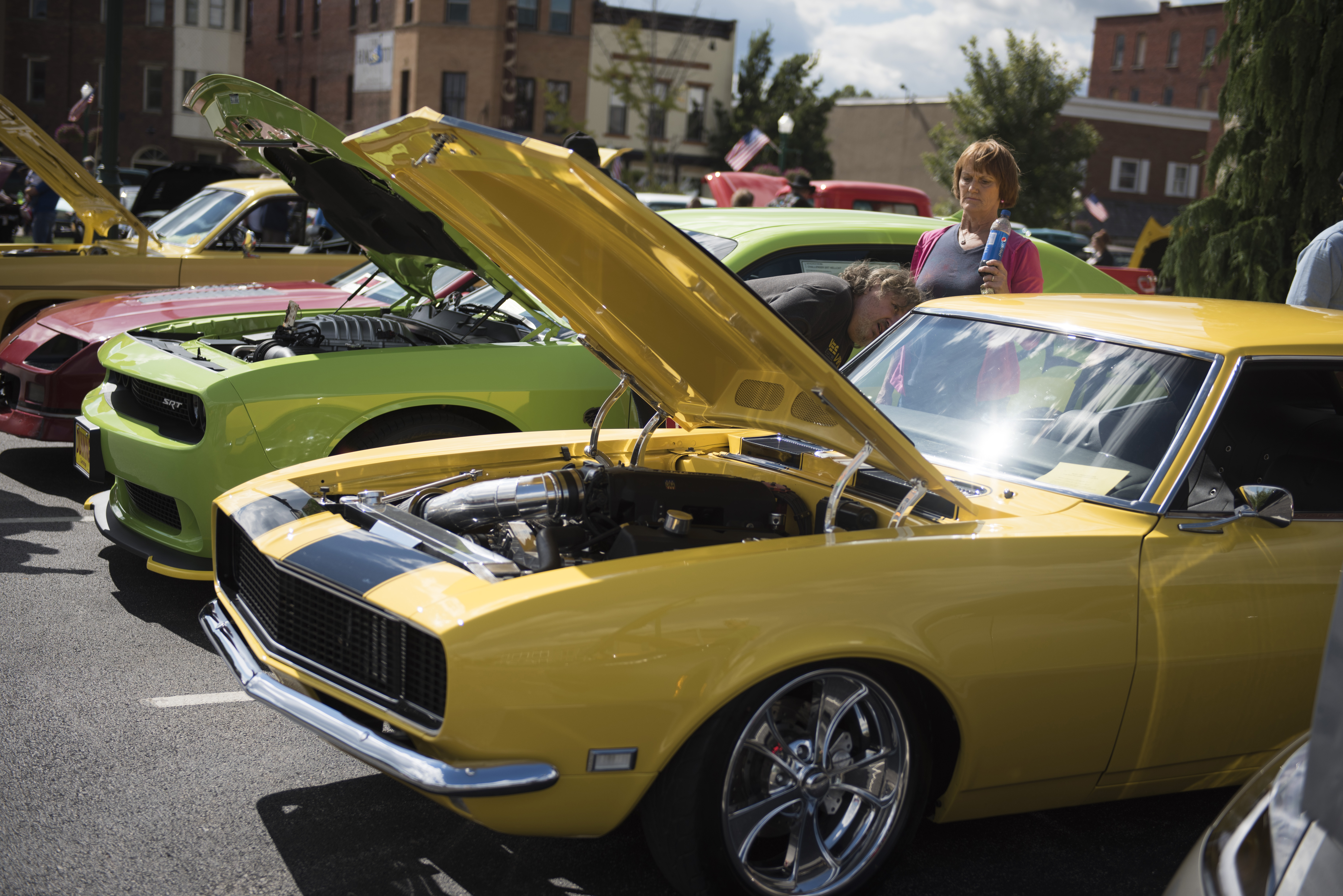 A couple checks out classic cars during the 18th annual Sternwheel Festival Car Show  on Sunday, Sept. 13 in Marietta, OH. The car show crowd is always huge and has become a top draw for the event.