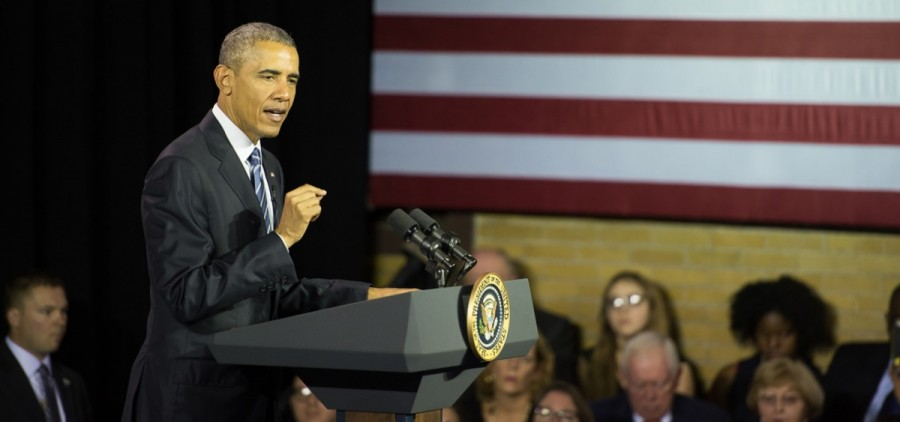 President Barack Obama visited Charleston, W.Va. on Wednesday to lead a community discussion on the heroin and  prescription drug abuse epidemic that is afflicting communities across the nation. (Robert McGraw/WOUB)