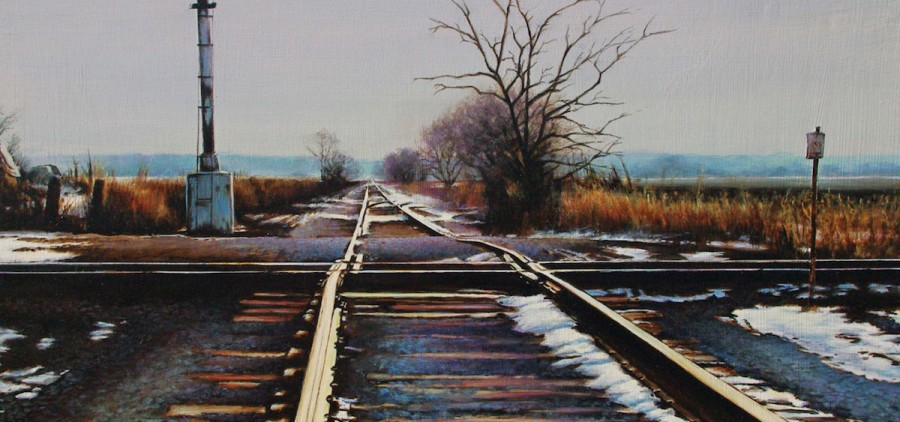 """""""Until We Meet Again,"""" Acrylic Painting, 12.75in x 21in, 2015 by Todd Buscher (courtesy of the artist)"""