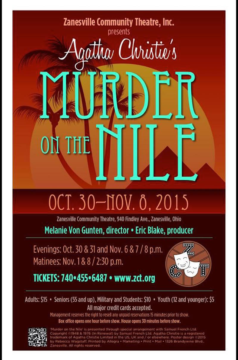 ZCT Murder on the Nile poster