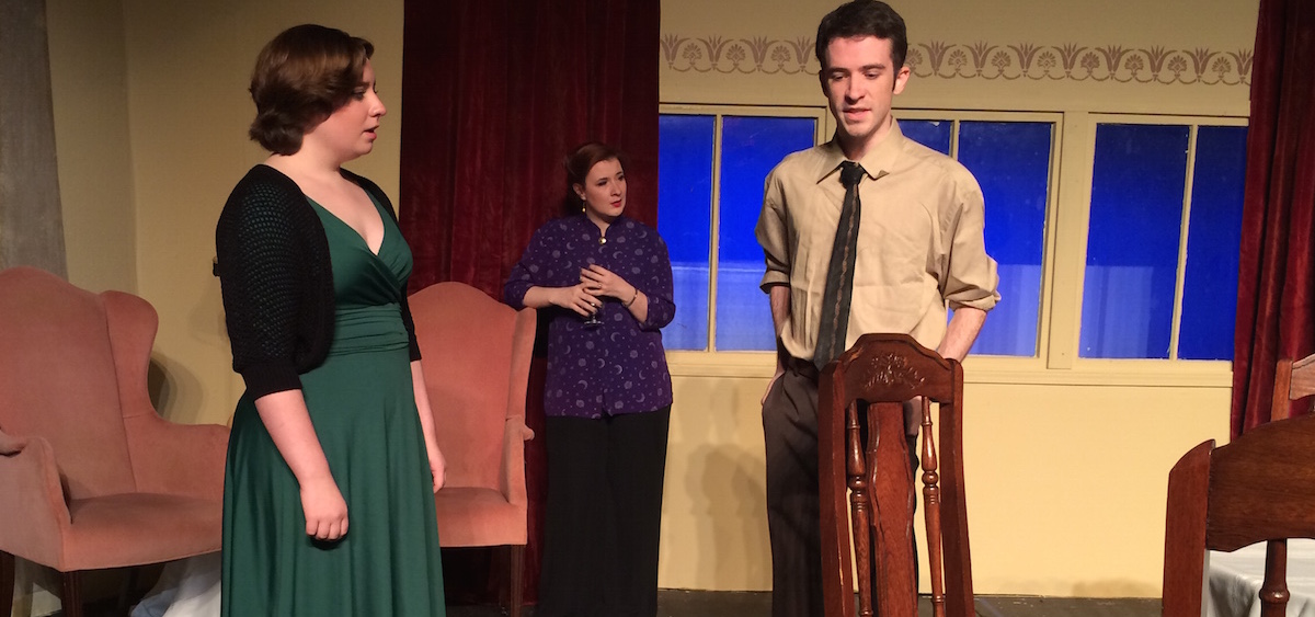 "(L-R) Cary Underwood, Jillian Von Gunten and Cory Roush star in Zanesville Community Theatre's production of Agatha Christie's ""Murder on the Nile,"" opening Oct. 30. (Photo provided)"