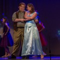 """The Blue Fairy (Marissa Dienstag) and Geppetto (Joe Assente) star in the ABC Players production of """"My Son, Pinocchio,"""" at Stuart's Opera House. (Hannah Schroeder/WOUB)"""