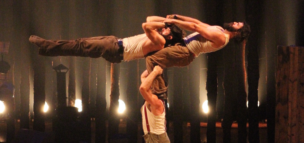 """Cirque Alfonse's """"TIMBER!"""" will be presented Oct. 21 at Ohio University's Memorial Auditorium. (Guillaume Morin)"""