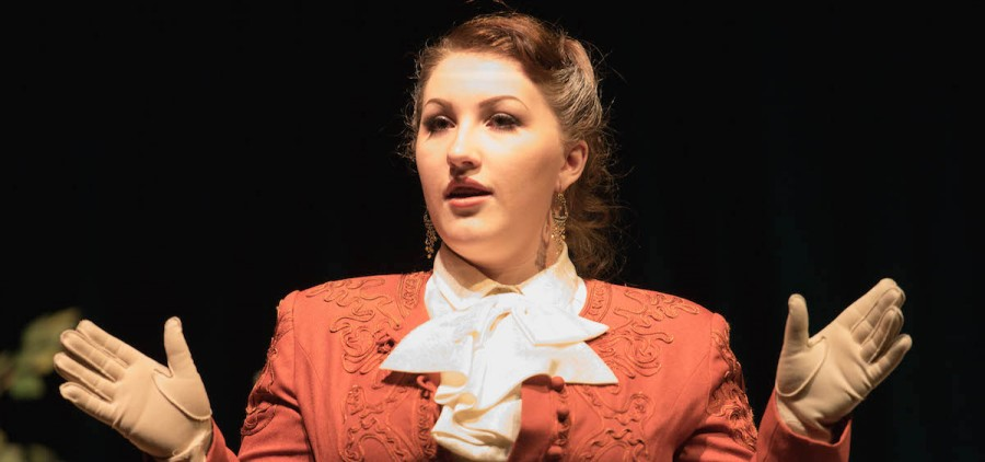 """Lizzy Hall stars in the Athens High School Drama Club production of """"Charley's Aunt,"""" opening Nov. 12. (Jeffrey Zide/WOUB)"""