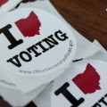 The old I Voted sticker in Ohio