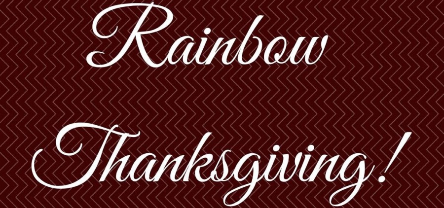 Rainbow Thanksgiving poster crop