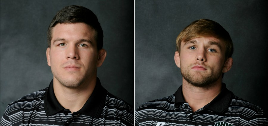From left to right: Ohio wrestling assistant coaches Colt Sponseller and Eric Morrill |Daniel Kubus | Ohio Athletics
