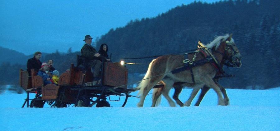 Rick Steves on a sleigh ride
