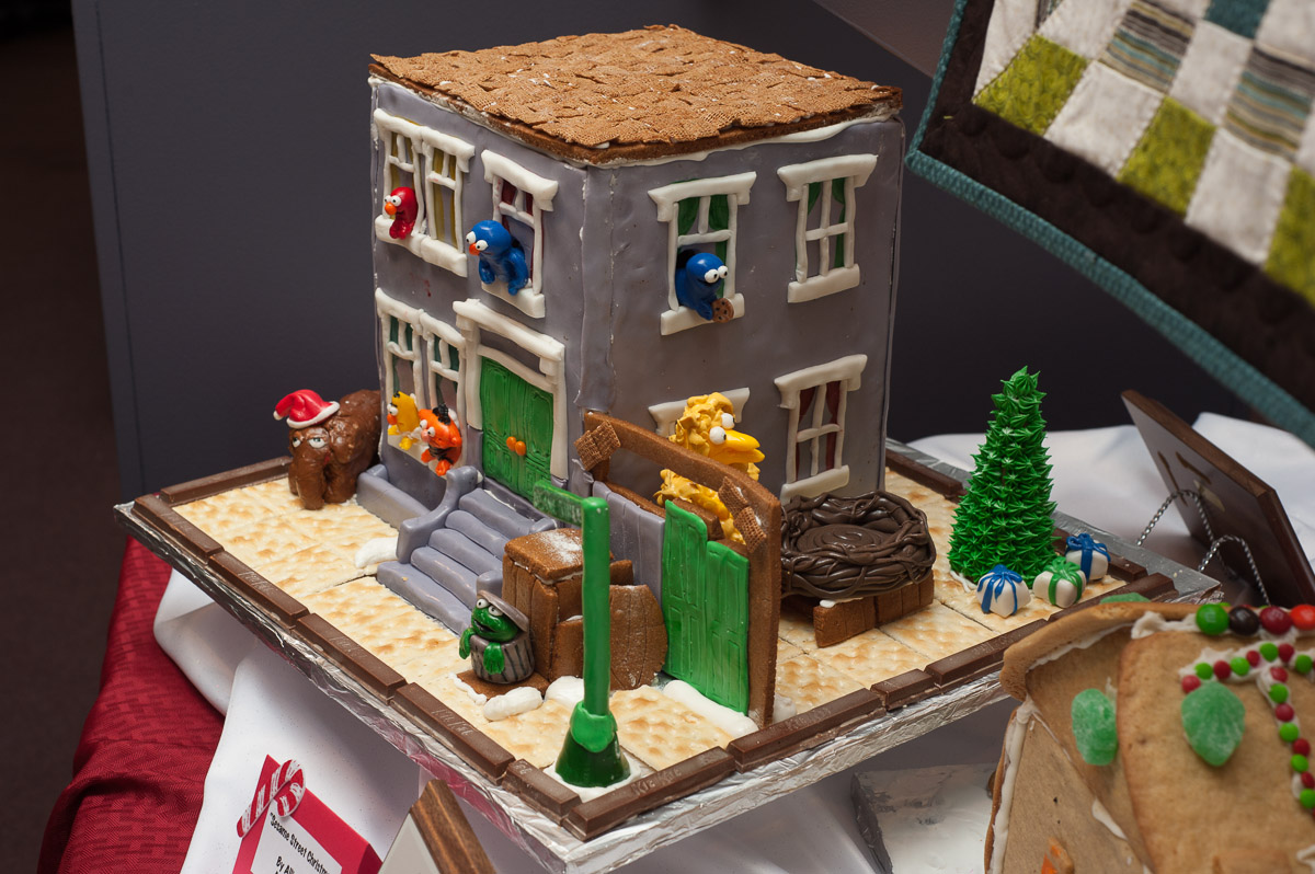 "The first place winner in the Teen Category was ""Sesame Street Christmas"" by Allie Holm of Athens. (Yi-Ke Peng/WOUB)"