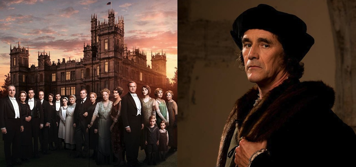 Downton Abbey cast in front of castle