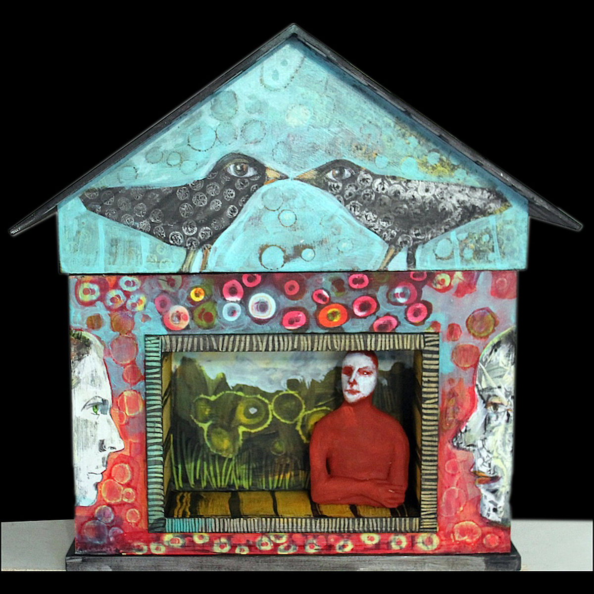 """""""Dream House with Niche and Figure,"""" Beth Nash, paint/mixed media (Courtesy of the Women of Appalachia Project)"""
