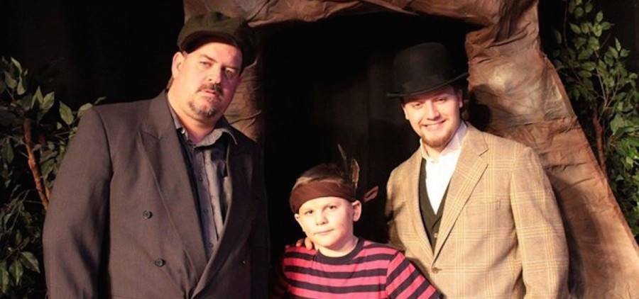 "Left to right, Phil Palmer, Joshua Lightle and Daniel Warne star in the Zanesville Community Theatre's production of ""The Ransom of Red Chief."" (photo provided)"