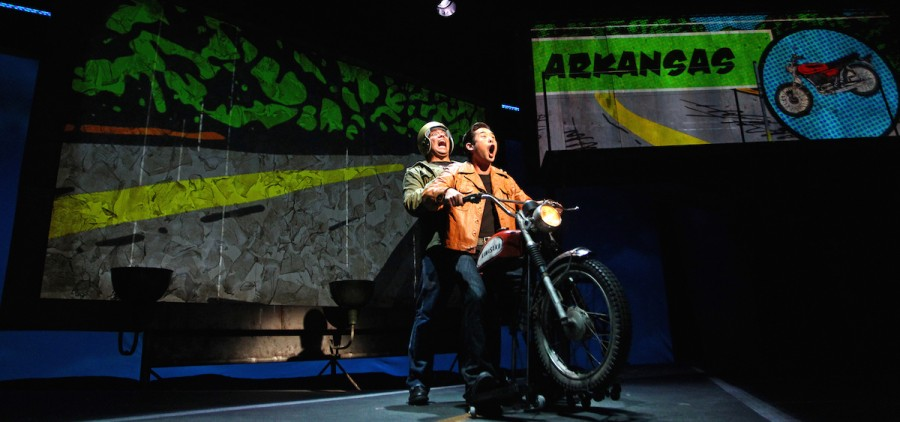 """Jon Hoche and Raymond Lee star in South Coast Repertory's 2015 world premiere of """"Vietgone"""" by Qui Nguyen. (Debora Robinson/SCR)"""