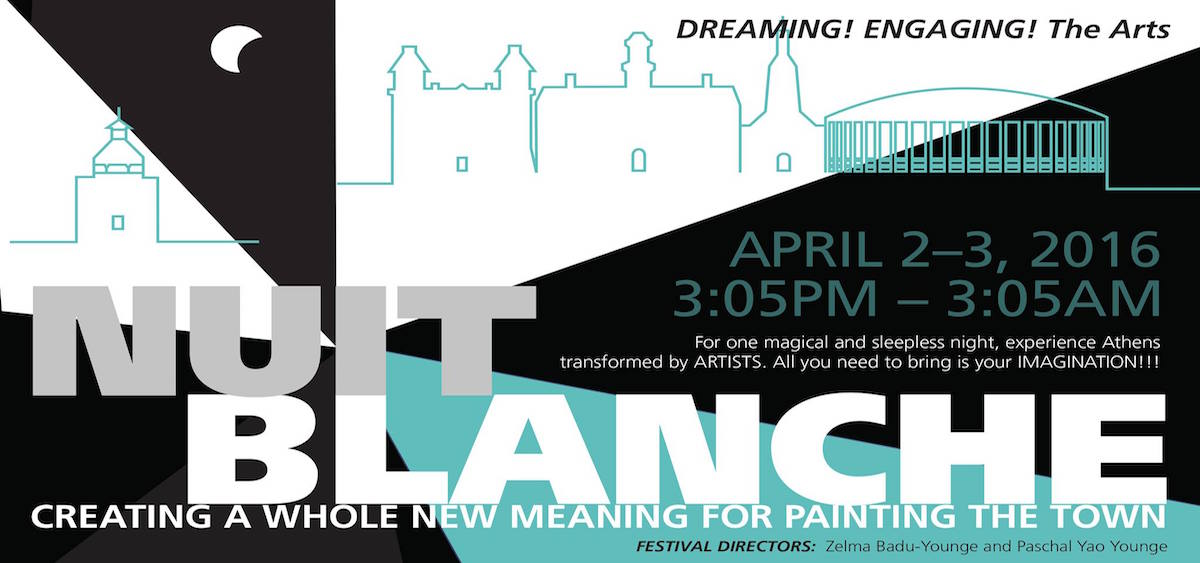2016 Nuit Blanche Athens poster