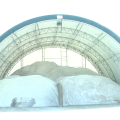 The City of Athen's surplus of salt stored at the Service Garage on West State Street.