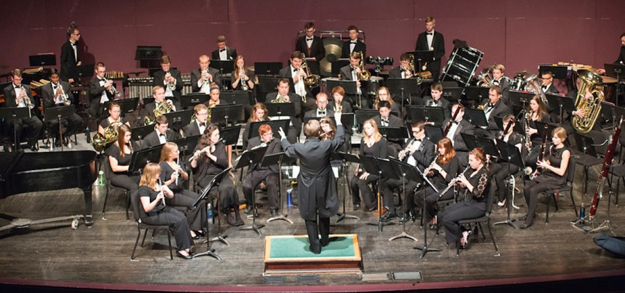 The Ohio University Wind Symphony, directed by Andrew Trachsel, photographed by Nick Bolin in 2015.