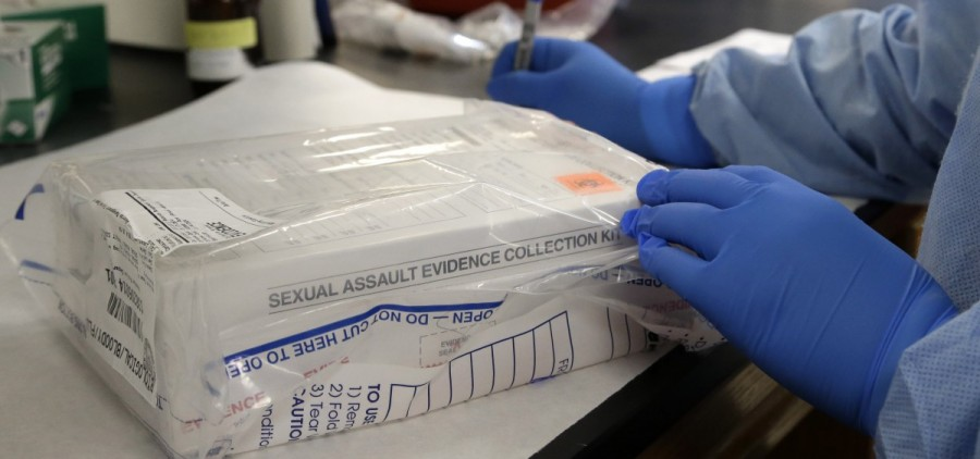 A sexual assault evidence kit is logged in a biology lab to go through CODIS testing. (AP Photo/Pat Sullivan)