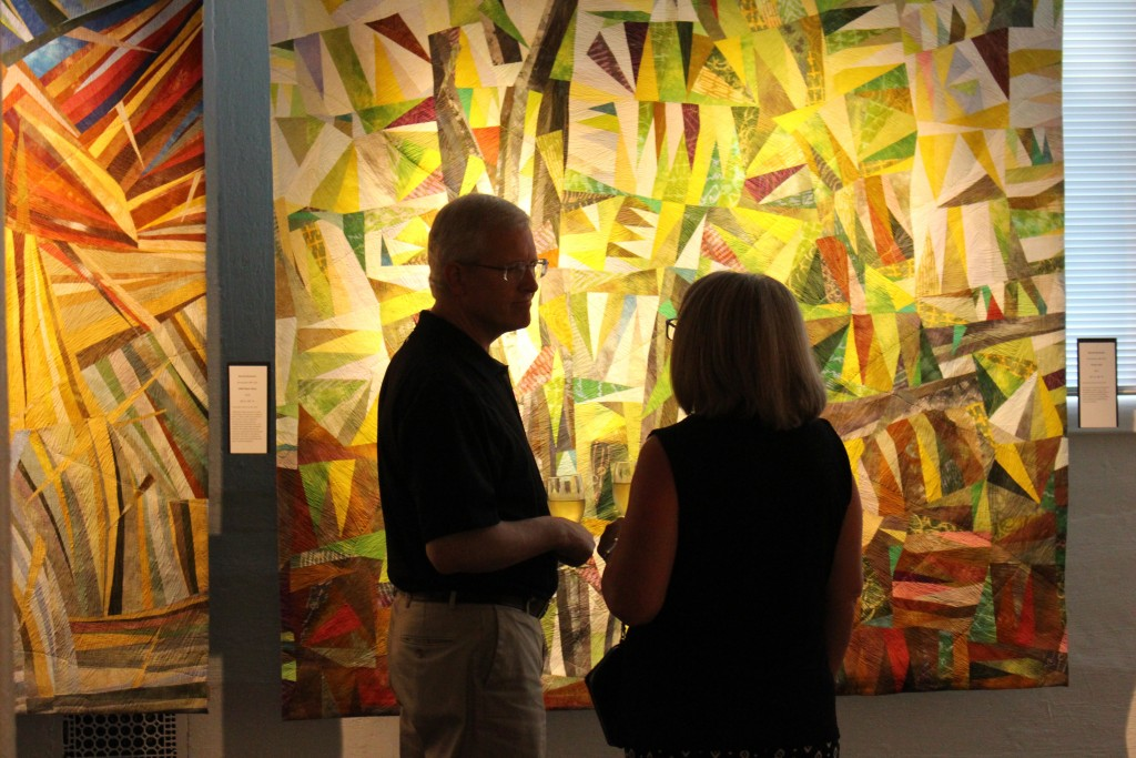 """A snapshot from May 27's public reception of The Dairy Barn Arts Center's """"Mastery: Sustaining Momentum"""" exhibition. (WOUB/Joe Votaw)"""