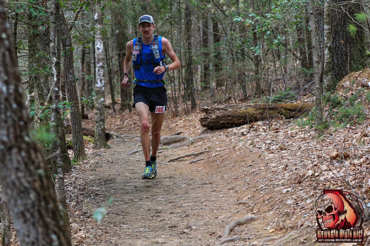 Local runner Michael Owen makes his way through  brutal race.