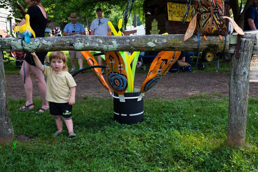 The Nelsonville Music Festival will always be a family-friendly event. (WOUB/Jasmine Beaubien)
