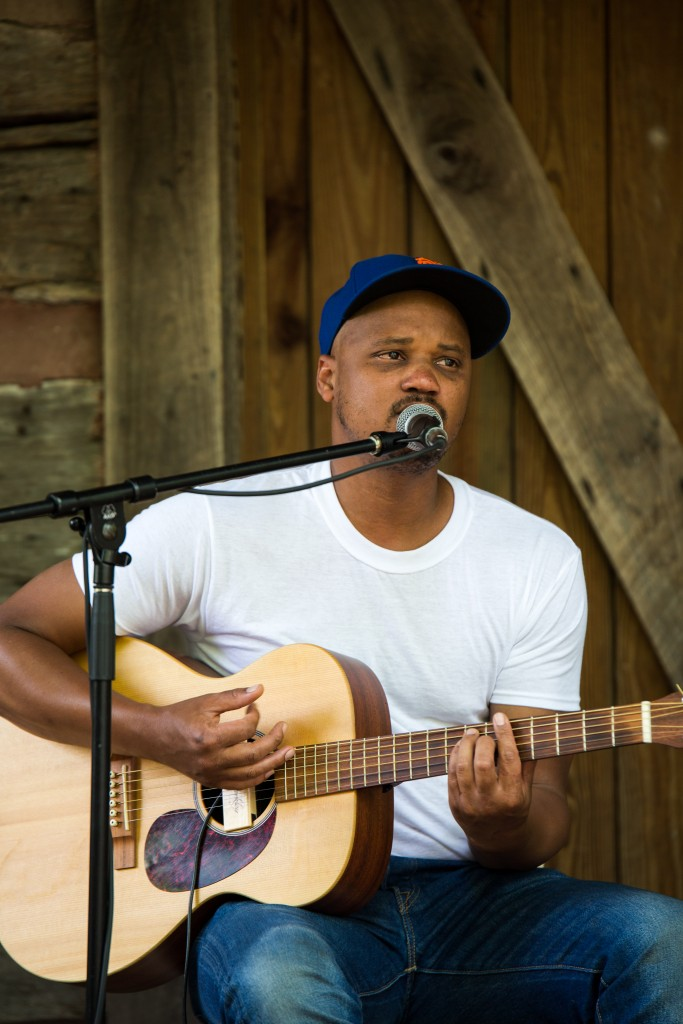 Philadelphia, PA R&B musician Son Little plays the Gladden House Sessions Friday afternoon. (WOUB/ Jasmine Beaubien)
