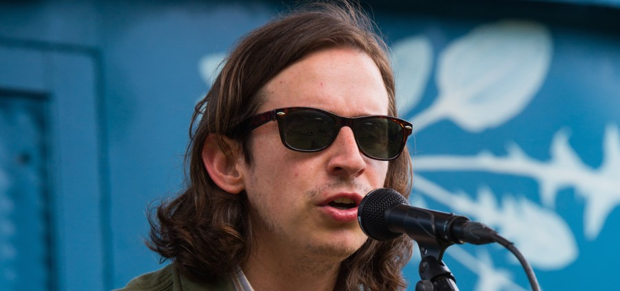 Adam Torres performs on the Boxcar stage, Sunday at NMF.