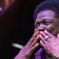 Charles Bradley blows a kiss to the crowd.