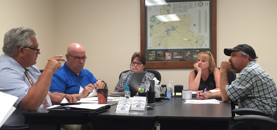 The Athens County Commission discusses various items on Thursday's agenda