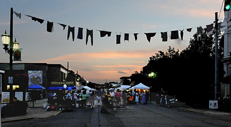 During the annual Washboard Music Festival in Logan, laundry is strung up in the historic downtown area. (www.washboardmusicfestival.com)