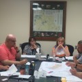 David Longfellow goes over Oxford Mining planned project during Tuesday's meeting