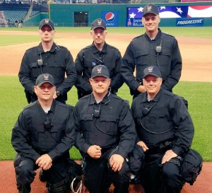 Ohio University Police Department officers in Cleveland for the Republican National Convention.  Photo courtesy of OUPD
