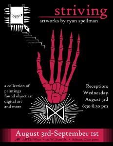 Ryan Spellman Art Opening Poster