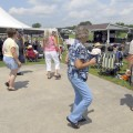 Folks get their boogie on at a past Poston Lake Bluegrass Jam Festival. This year the festival takes place  July 15 and 16. (Photo courtesy of Dennis Powell)