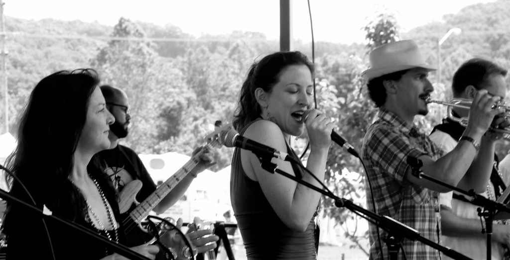 The Wild Honey Bees perform at the 2015 Nelsonville Music Festival. The group will bring their signature jazzy sound to the Eclipse Company Town this weekend. (Facebook.com/thewildhoneybees.com)