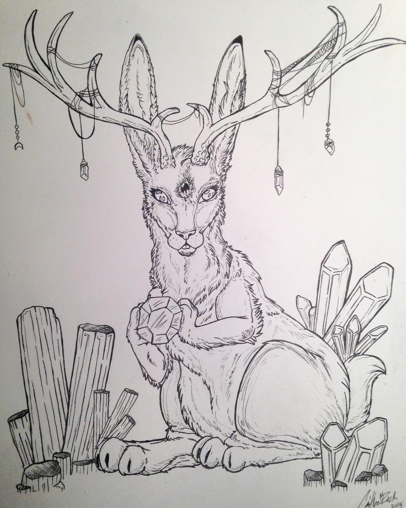 A piece by Caitlyn Rack of FunkyFae Art. (Facebook.com/FunkyFaeArt)