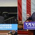 Clinton and Trump will have ads run this weekend. (Photo credit Karen Kasler/Statehouse News Bureau)