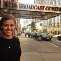 Hillier outside the CBS News Broadcast Center in New York