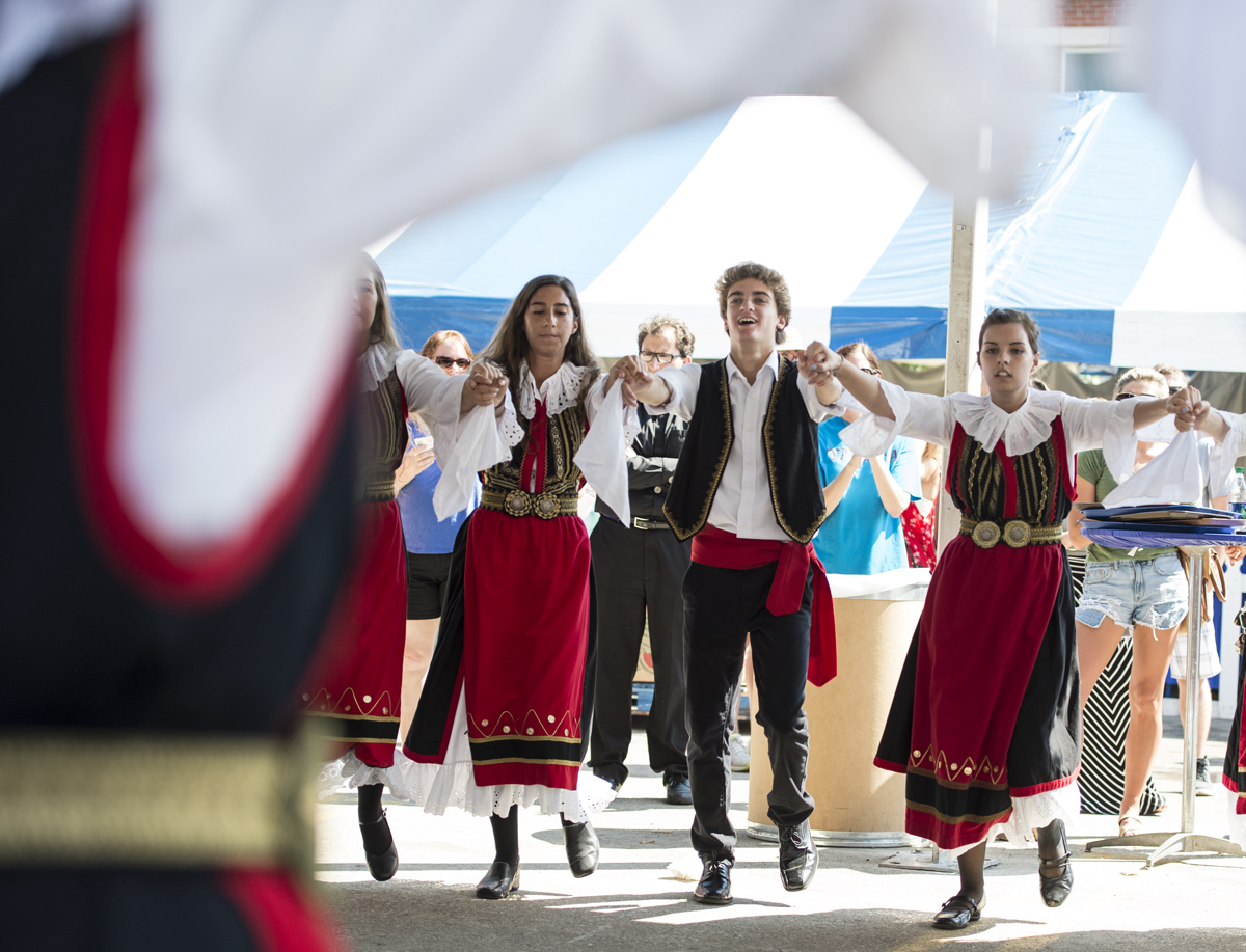 Zoee folk dancers perform at the 44th Annual Greek Festival held in Columbus, Ohio, during Labor Day weekend.