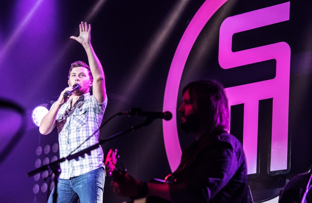 10th Season American Idol winner Scotty McCreery performs at the Templeton-Blackburn Alumni Memorial Auditorium in Athens, Ohio, on September 08, 2016.