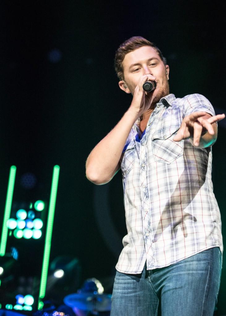 10th Season American Idol winner Scotty McCreery performs at the Templeton-Blackburn Alumni Memorial Auditorium in Athens, Ohio, on September 08, 2016.