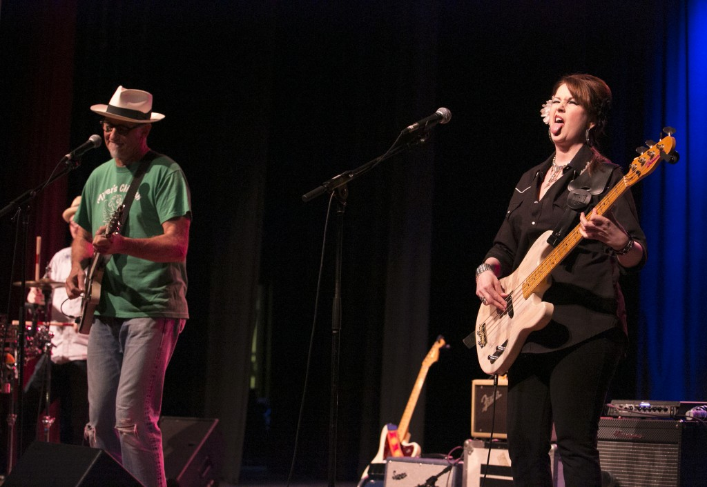 The rockabilly surf rock band Southern Culture on the Skids performed to packed audience Friday night at Stuart's Opera House in Nelsonville. (WOUB/Jennifer Coombes)