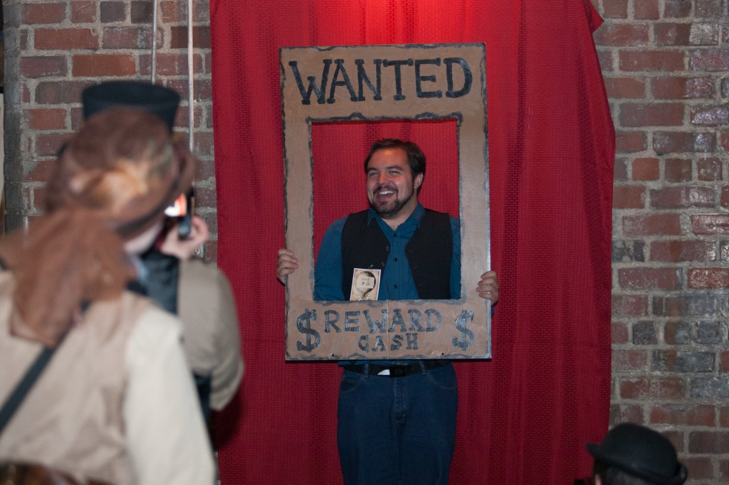 Ty Payne poses for a photo at Steam Punk Rusted Rodeo at Central Venue on Sept. 25. (Michael Johnson/WOUB)