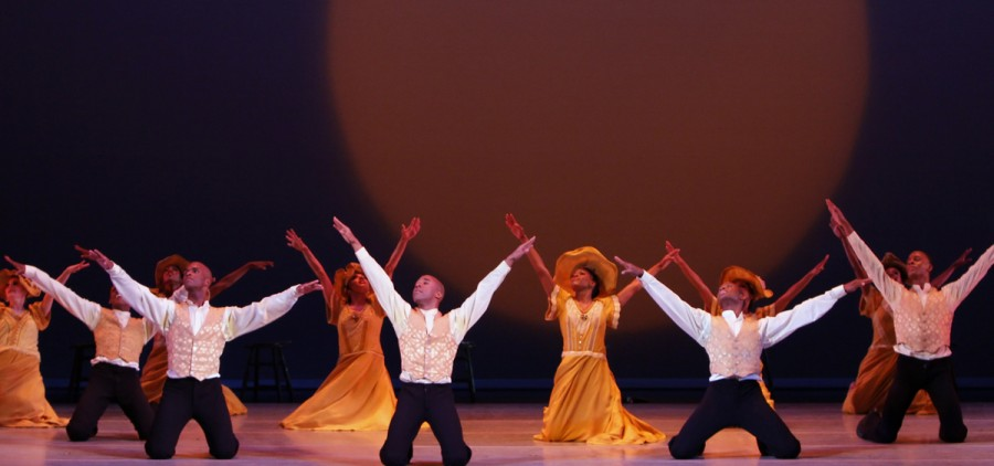 Alvin Ailey American Dance Theater in Alvin Ailey's REVELATIONS. Photo by Paul Kolnik