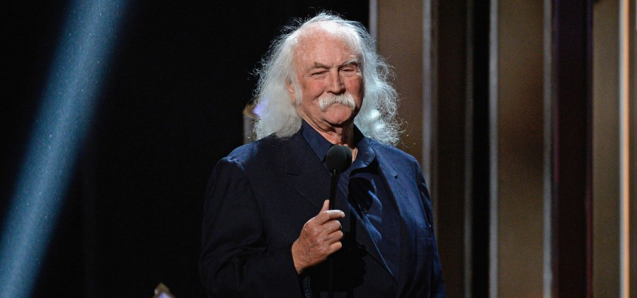 HOLLYWOOD, CA - APRIL 23:  Singer-songwriter David Crosby speaks onstage during the 2016 GRAMMY Salute To Music Legends at the Dolby Theatre on April 23, 2016 in Hollywood, California.  (Photo by Kevork Djansezian/Getty Images) *** Local Caption *** David Crosby