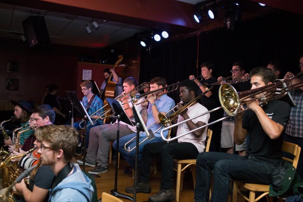 The Ohio University Jazz Band plays at Casa Neuva on October 8, 2016 in Athens, Ohio.  (Michael Johnson/WOUB)