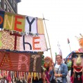 Artists in the parade showcase creative talent as well as Honey for the Heart's brand