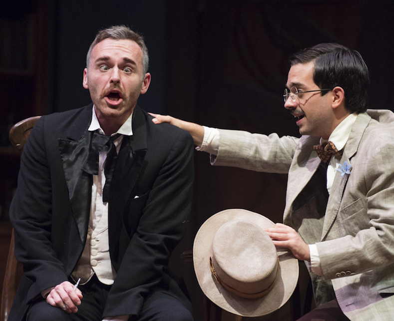 """Dr. Hercule Molineaux (Brian Eperson) and Bassinet (Bruce McGlumphy) in """"The Ladies Man."""" (Robert McGraw/WOUB)"""